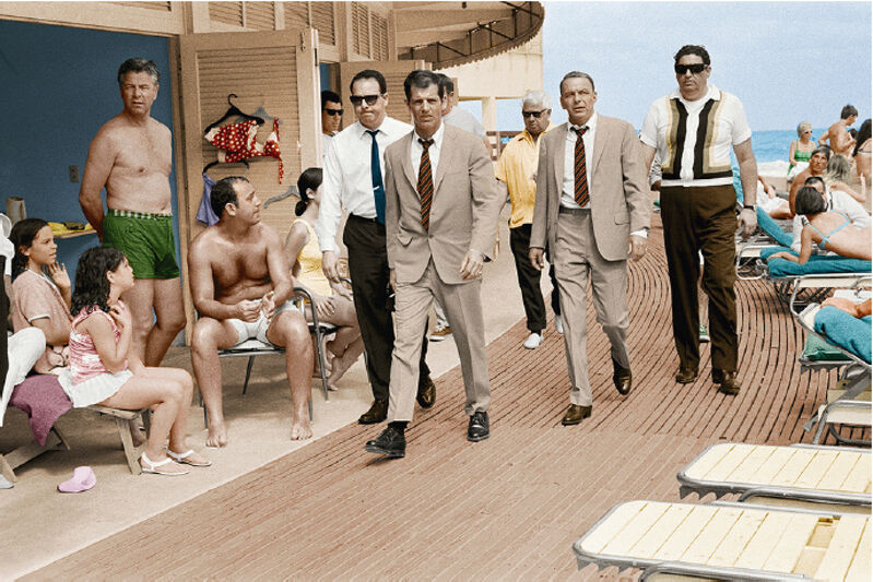 Terry O'Neill, 'Frank Sinatra Boardwalk, Colourised, 1968', 1968, Photography, C-type print, Lyons Gallery