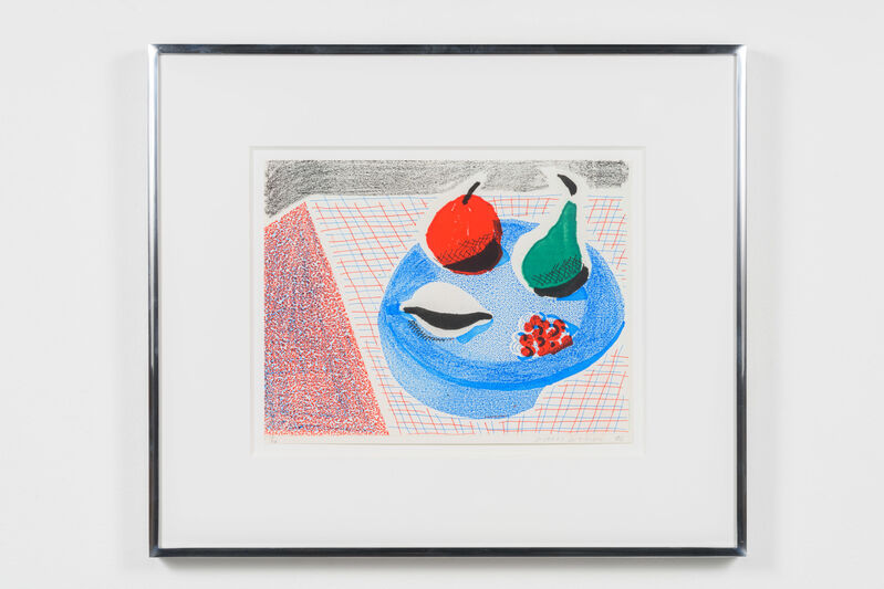David Hockney, 'The Round Plate, April 1986', 1986, Print, Homemade print executed on an office color copy machine, Leslie Sacks Gallery