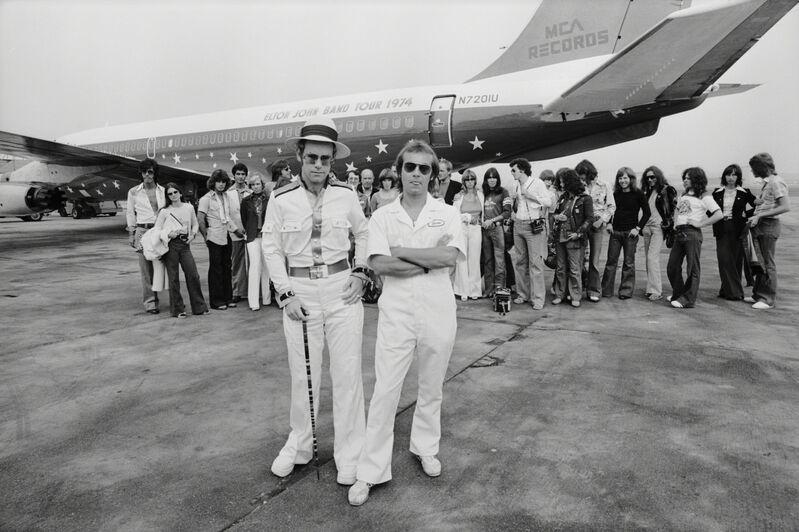 Terry O'Neill, 'Elton John Dodger Stadium, Aeroplane', 1975, Photography, Archival C-Print, Mouche Gallery
