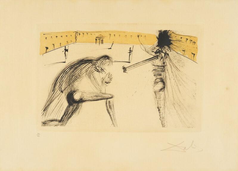 Salvador Dalí, 'Le pardon de Sigismund', 1971, Print, Eau-forte et aquatinte en couleurs sur vélin Richard de Bas, Invertirenarte.es