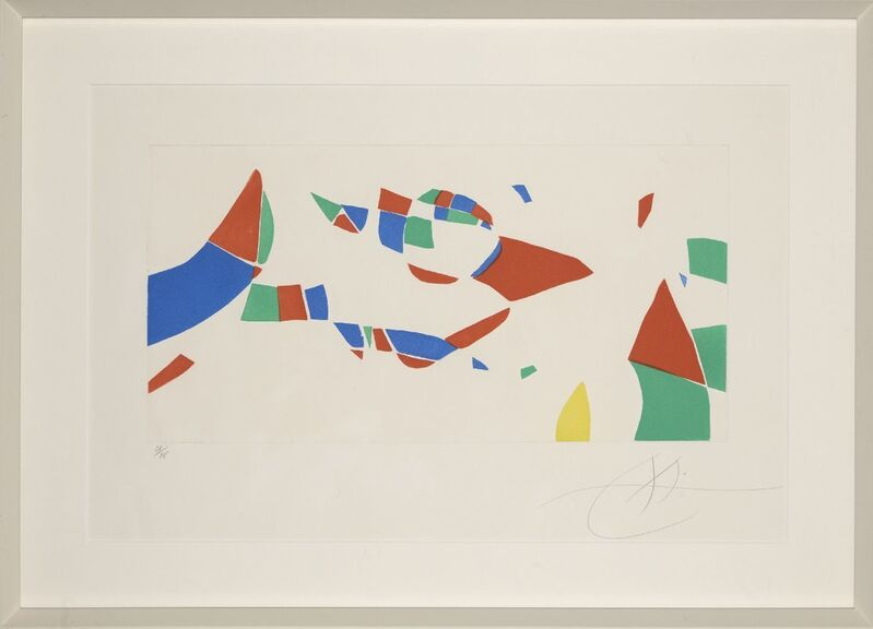 Joan Miró, 'Homage to Pierre Matisse from Etchings for an Exhibition [Dupin 609]', 1973, Print, Etching with aquatint in colours on Arches wove, Roseberys