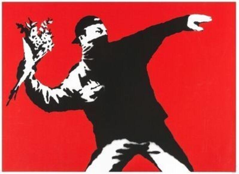 Banksy, 'Love Is In The Air', 2003, Print, Screen print, The Drang Gallery