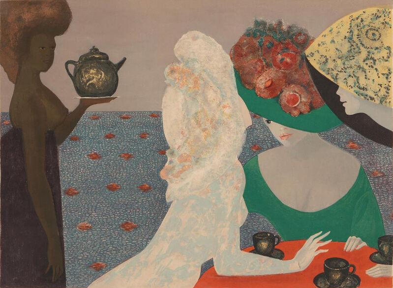 Leonor Fini, 'Parques Hôtel', 1968, Print, Lithograph and watercolor, Elizabeth Clement Fine Art
