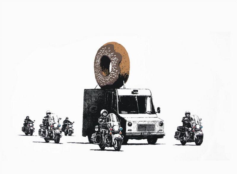 Banksy, 'Chocolate Donut', 2009, Print, Screenprint on Arches Aquarelle paper, MoonStar Fine Arts Advisors