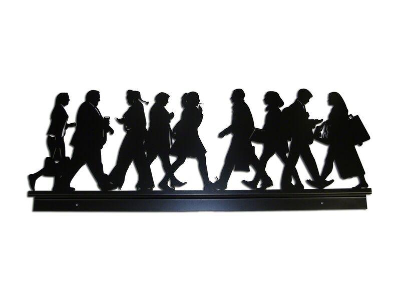 Julian Opie, 'City Walkers 2', 2014, Sculpture, Powder-coated laser-cut steel wall relief sculpture, Hamilton-Selway Fine Art Gallery Auction