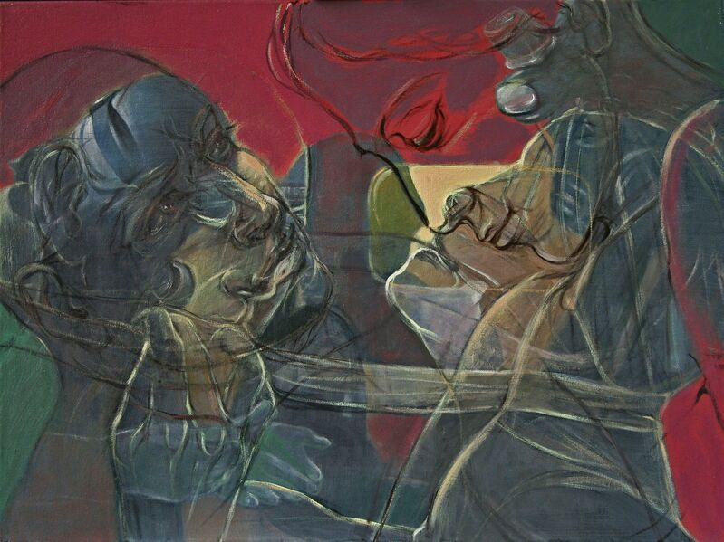 Henri Deparade, 'Agamemnon and Kassandra', 2018, Painting, Oil on canvas, Accesso Galleria