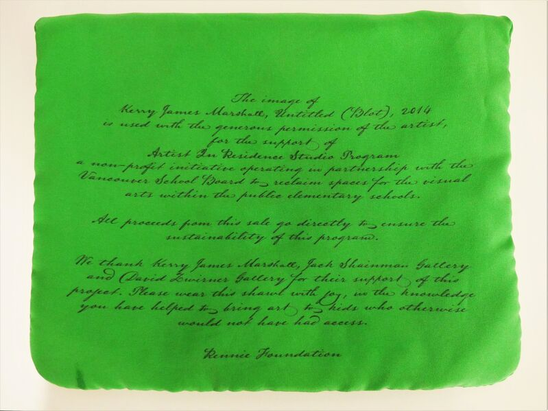 """Kerry James Marshall, 'Luxury Cashmere Scarf (Fundraiser for Artist In Residence Studio)', 2018, Fashion Design and Wearable Art, 100% cashmere. Hand rolled edge. Presented in a 100% silk pouch (8.5"""" x 11.5""""), Rennie Collection"""