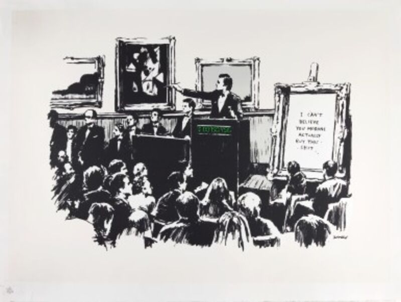 Banksy, 'Morons', 2007, Print, Screen print in colours on Arches paper, Tate Ward Auctions
