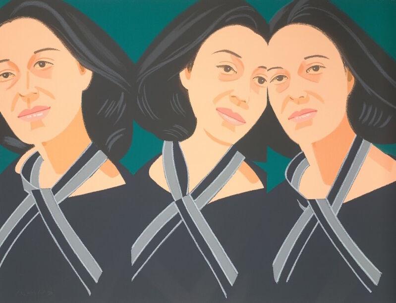 Alex Katz, 'Gray Ribbon (Alex and Ada, the 1960's to the 1980's Suite)', 1990, Print, Screenprint, Gregg Shienbaum Fine Art