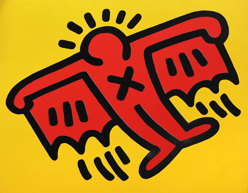 Keith Haring, 'X Man (Icon 4)', 1990, Print, Screen print with embossing, Oliver Clatworthy