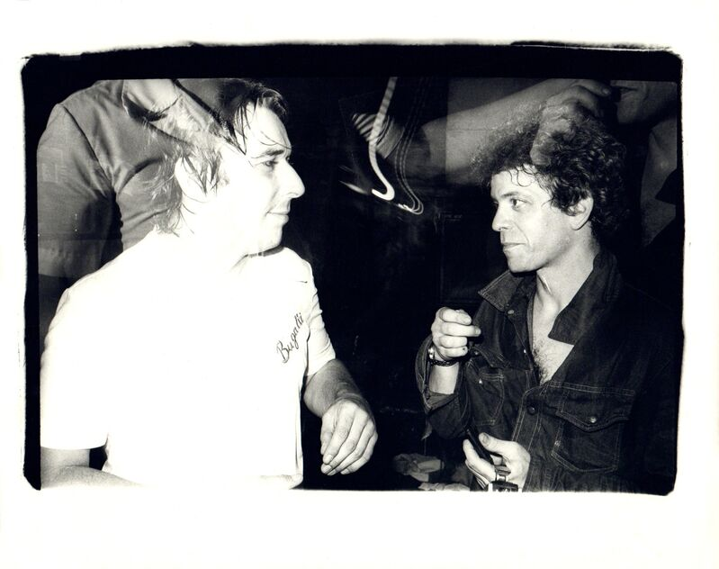 Andy Warhol, 'Andy Warhol, Photograph of John Cale and Lou Reed at the Ocean Club, 1976', 1976, Photography, Silver gelatin print, Hedges Projects