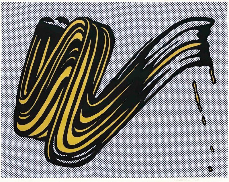 Roy Lichtenstein, 'Brushstroke', 1965, Print, Screenprint in colors on wove paper, Zeit Contemporary Art