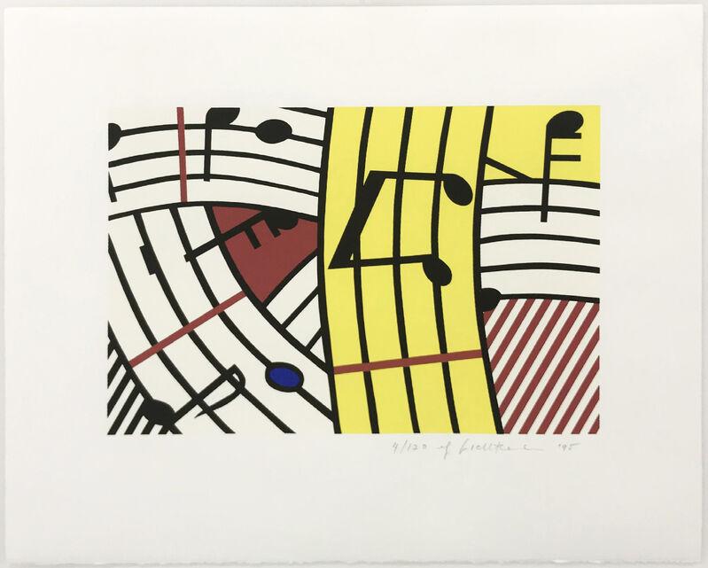 Roy Lichtenstein, 'COMPOSITION IV (C. 293)', 1995, Print, SCREENPRINT ON RIVES BFK PAPER, Gallery Art
