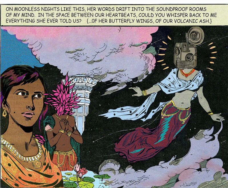 Chitra Ganesh, 'On Moonless Nights', 2016, Print, Archival inkjet print, Aicon Gallery