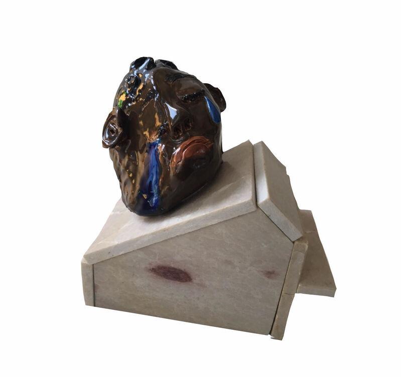 Bony Ramirez, 'The House I Burned/The House I Built', 2018, Sculpture, Ceramic, Ceramic Glaze, Pink Pakistanian Marble, ARTNOIR Benefit Auction