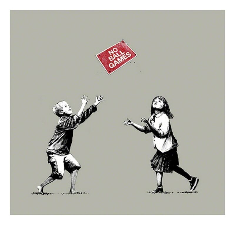 Banksy, 'No Ball Games (Grey) - Signed', 2009, Print, Screen print on paper, Hang-Up Gallery