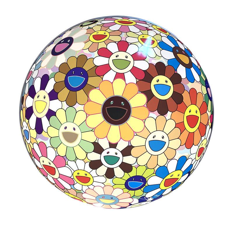 Takashi Murakami, 'Flower Ball (3-D) Sunflower', 2007, Print, Offset print with silver, Art Works Paris Seoul Gallery