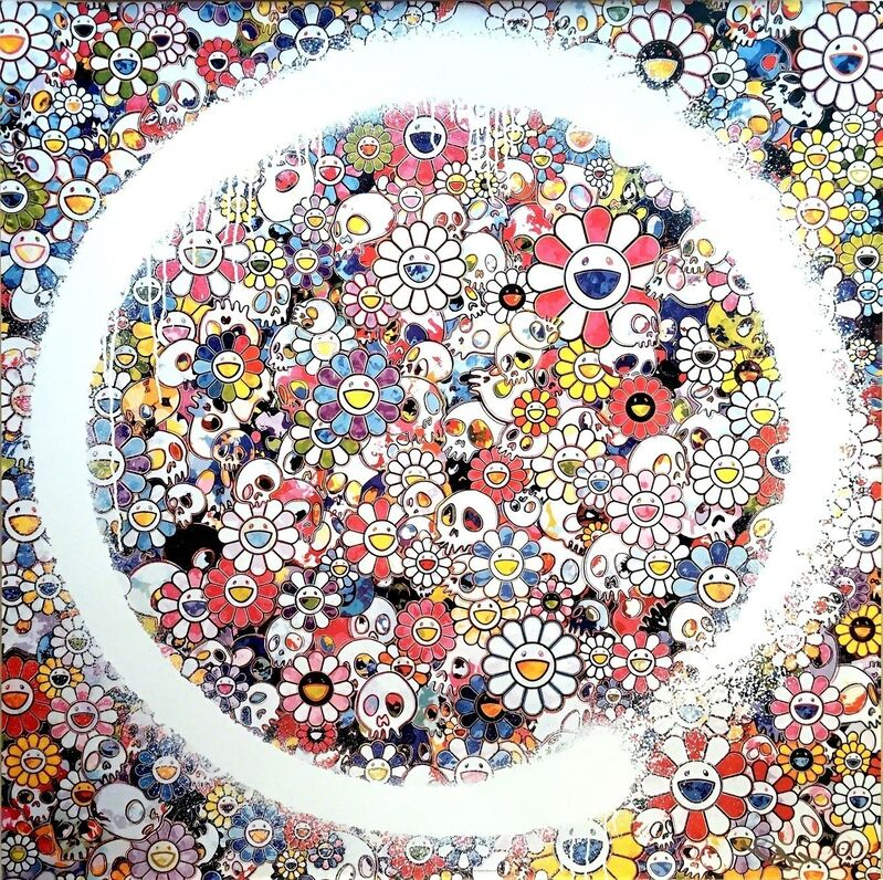 Takashi Murakami, 'Enso: Zen, the Heavens', 2016, Print, Offset print, 4c process with silver, Lougher Contemporary