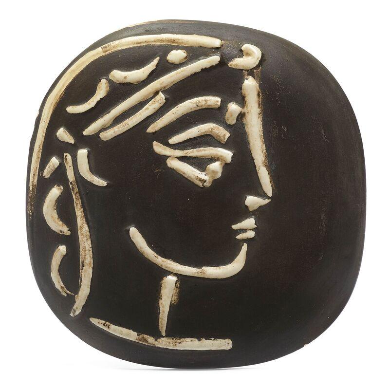 Pablo Picasso, 'Profil de Jacqueline', 1956, Design/Decorative Art, Plate, Koller Auctions