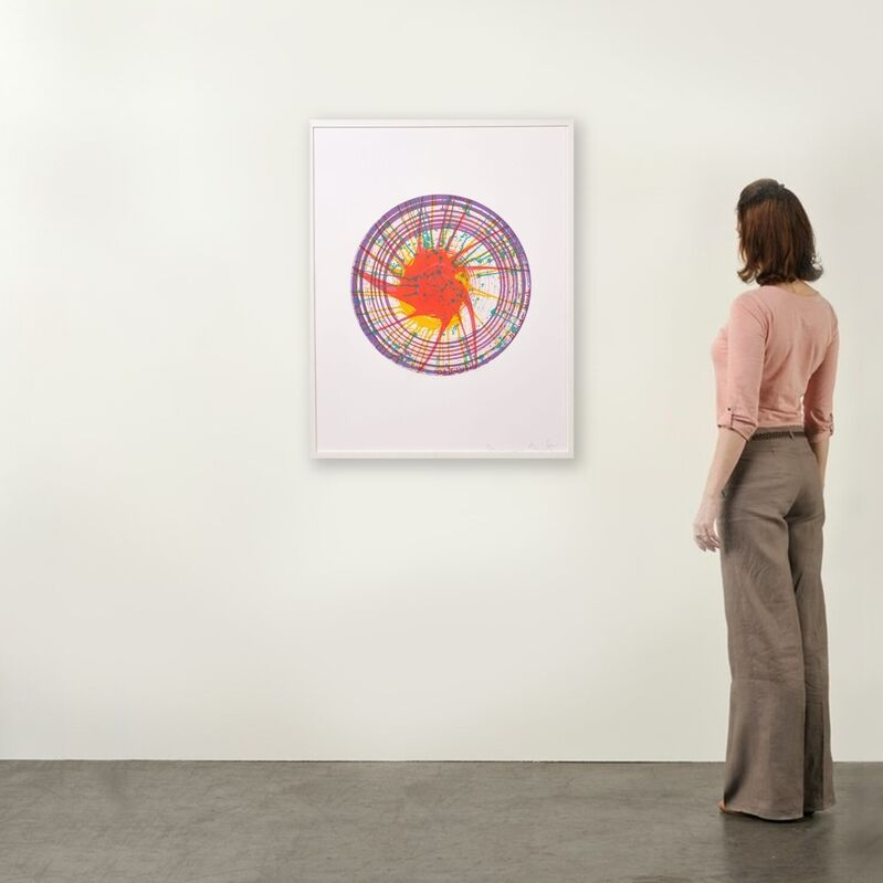 Damien Hirst, 'Round (from in a spin, the action of the world on things, volume I)', 2002, Print, Color Etching on 350gsm Hahnemühle paper, Weng Contemporary