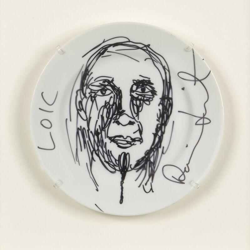 Damien Hirst, 'Untitled (sketch plate)', Design/Decorative Art, Ceramic plate with hand-drawn sketch in black ink, Roseberys