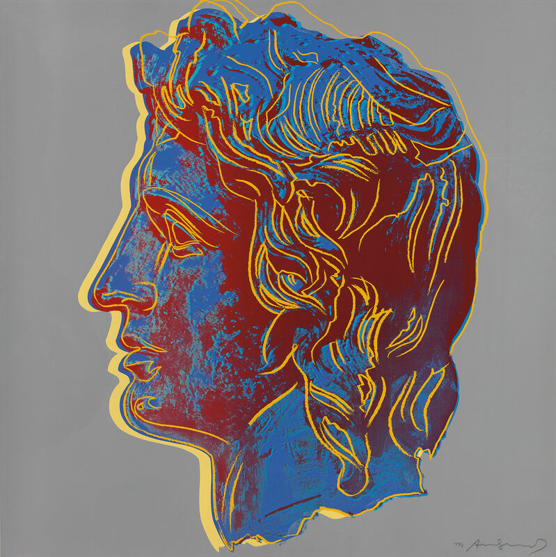 Andy Warhol, 'Alexander the Great', 1982, Print, Unique screenprint in colors, on Lenox Museum Board, the full sheet., Phillips