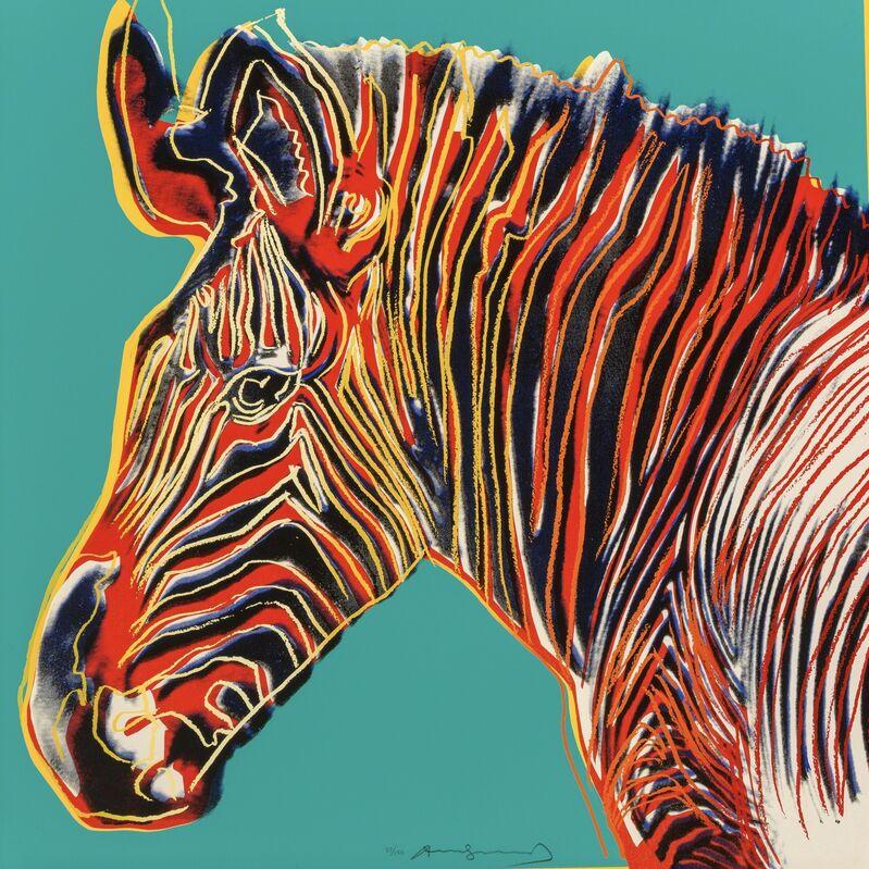 Andy Warhol, 'Grevy's Zebra, from Endangered Species F&S II.300', 1983, Print, Screenprint on Lenox Museum Board, Fine Art Mia