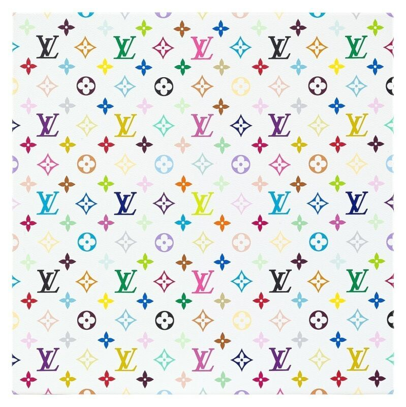 Takashi Murakami, 'Takashi Murakami x Louis Vuitton Monogram Multicolore - White', 2007, Print, Screenprint Canvas on Chassis, with Original Louis Vuitton Box and Certificate of Authenticity issued by Louis Vuitton, Curator Style