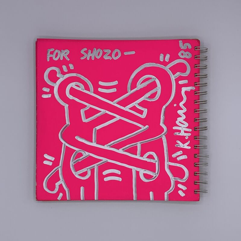 Keith Haring, 'Untitled ('Art Attack on Aids')', 1985, Painting, Silver pen, printed catalogue, Artificial Gallery