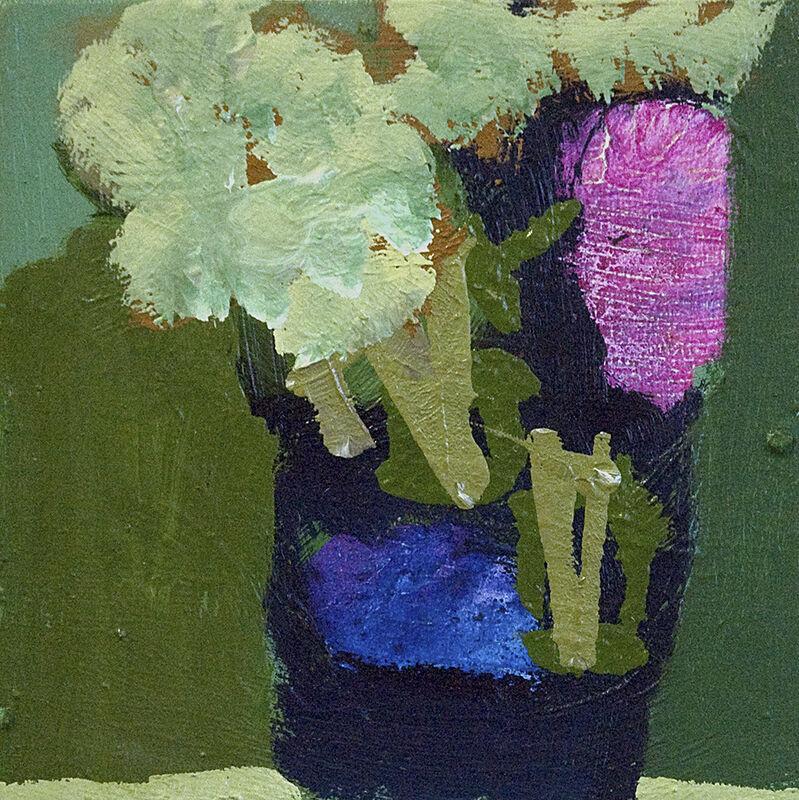 Jennifer Hornyak, 'Indigo Blue with Fushia', 2017, Painting, Oil on panel, Wallace Galleries