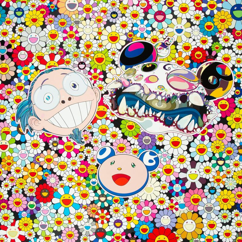 Takashi Murakami, 'Me and Double-Dob', 2009, Print, Offset lithograph in colors on satin wove paper, Heritage Auctions