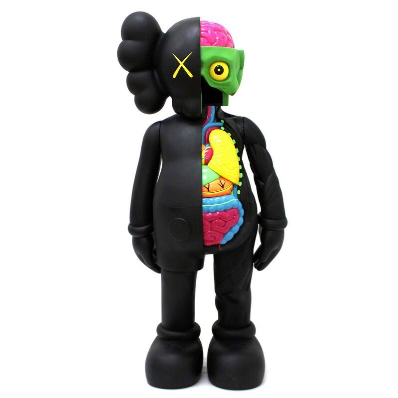 KAWS, '4FT Dissected Companion (Black)', 2009, Sculpture, Fiber-reinforced plastic, Pop Fine Art