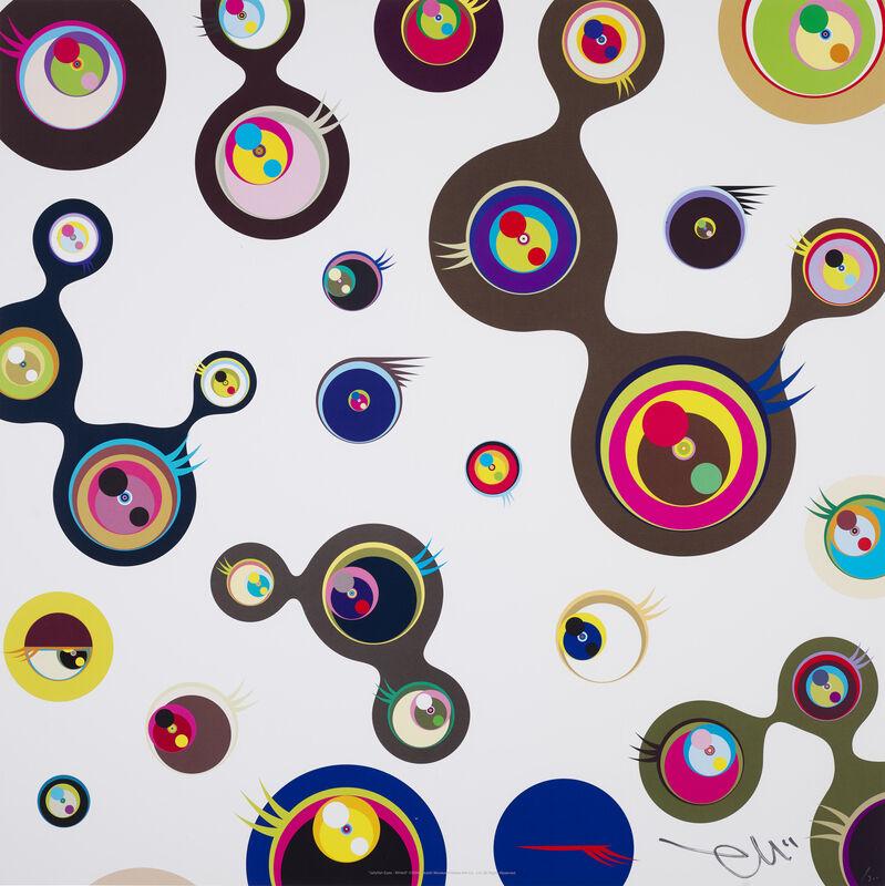Takashi Murakami, 'Jellyfish eyes - white 3', 2006, Print, Offset print with silver, Pinto Gallery