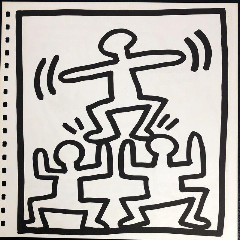 Keith Haring, 'Keith Haring lithograph 1982 (Keith Haring prints) ', 1982, Print, Offset lithograph, Lot 180