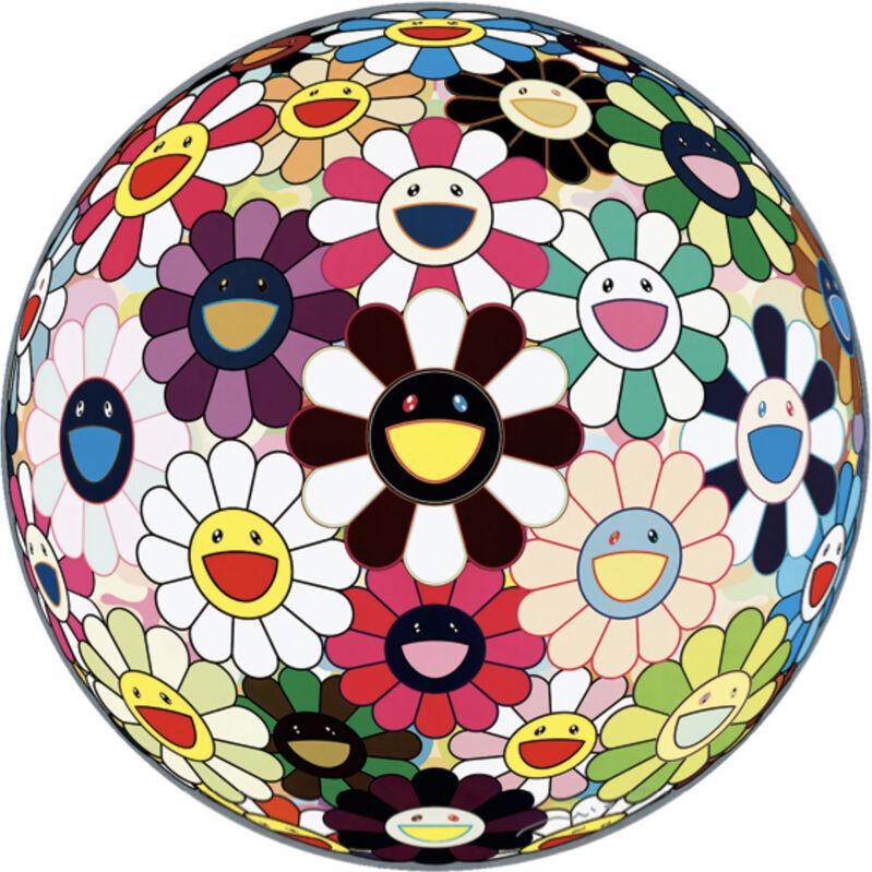 Takashi Murakami, 'Flower Ball Brown', 2007, Print, Offset print, Pinto Gallery
