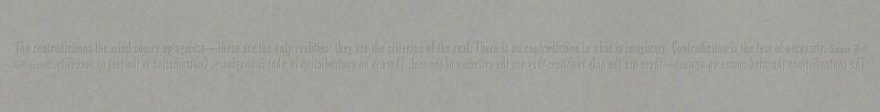 Joseph Kosuth, 'The Criterion of the Real', 2009, Print, Schellmann Art