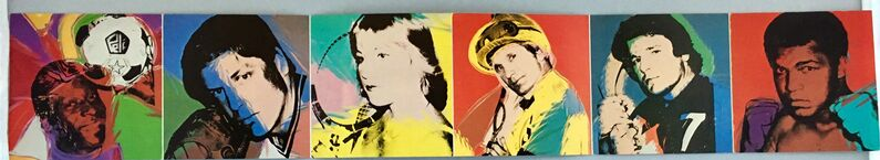 Andy Warhol, 'Warhol Athletes Series (1970s announcement)', 1977, Ephemera or Merchandise, Offset printed in colors (double-sided), Lot 180