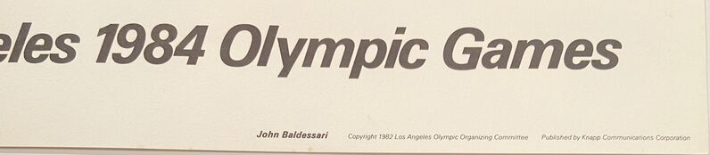 John Baldessari, 'Los Angeles 1984 Olympic Games Signed Limited Edition Poster 1982', 1982, Posters, Limited Edition Offset Lithograph on Parson's Diploma paper., David Lawrence Gallery