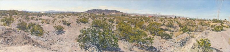 Rackstraw Downes, 'Creosote Bushes, Presidio, TX', 2016, Painting, Oil on linen, Betty Cuningham