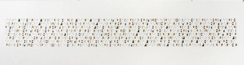 Andrew Christofides, '(3,5,8) Non coincided Finishes and Starts x 13', 2012, Painting, Acrylic, card and plastic on conser5vation board, Charles Nodrum Gallery