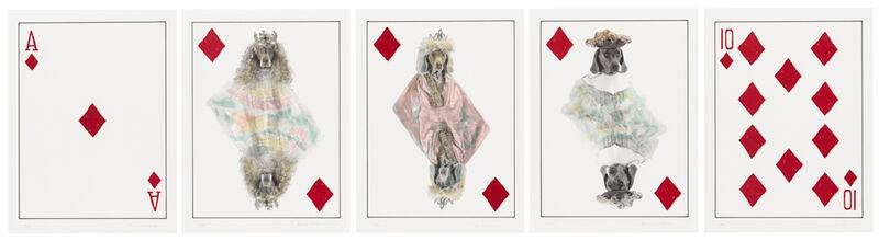 William Wegman, 'Royal Flush: Diamonds', 1998, Print, Photolithography, Rachael Cozad Fine Art