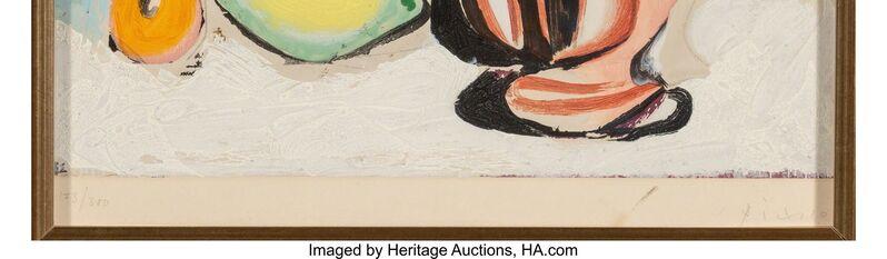 Pablo Picasso, 'Nature morte au Citron et au Pichet rouge', c. 1960, Print, Aquatint in colors on paper laid on panel, with trimmed margins, Heritage Auctions