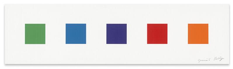 Ellsworth Kelly, 'Color Squares 2', 2011, Print, 5-color lithograph, Upsilon Gallery