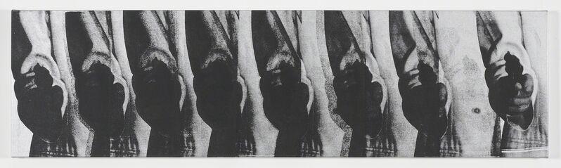 Gavin Turk, 'Silver Pop Gun 8 Times', 2012, Painting, Silkscreen on linen, MARUANI MERCIER GALLERY