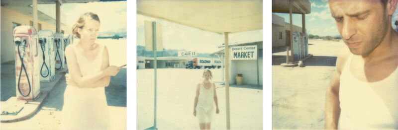 Stefanie Schneider, 'Gasstation (Stranger than Paradise) ', 2000, Photography, 3 Analog C-Prints, hand-printed by the artist on Fuji Crystal Archive Paper, based on 3 Polaroids, mounted on Aluminum with matte UV-Protection, Instantdreams