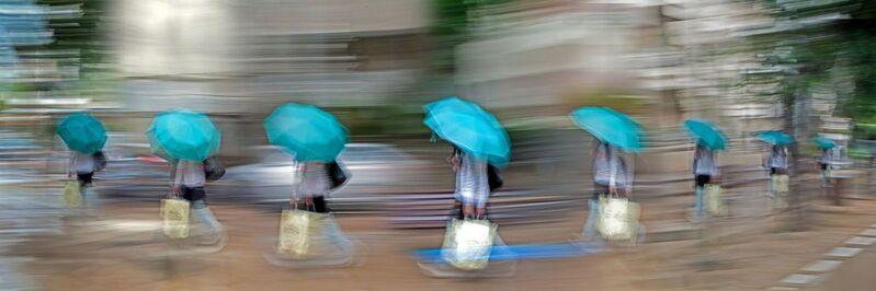 Eitan Vitkon, 'Blue Umbrella', ca. 2008, Photography, C-Print on Diasec, Corridor Contemporary