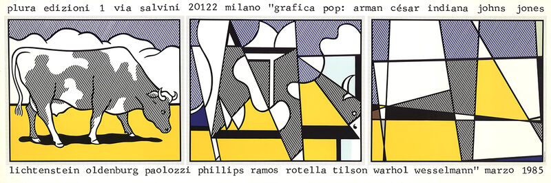 Roy Lichtenstein, 'Cow Going Abstract', 1985, Posters, Offset Lithograph, ArtWise