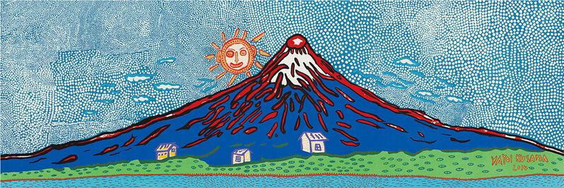 Yayoi Kusama, 'Mt. Fuji in Seven Colours / 七色の富士', 2015, Print, Woodcut, Curio