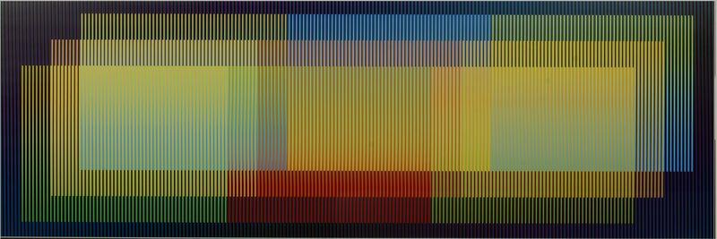 Carlos Cruz-Diez, 'Color Aditivo Hilda 2 ', 2012, Mixed Media, Chromography on aluminum, Galería RGR