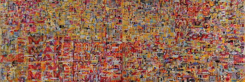 Choy Chun Wei, 'Reaching New Heights With New Look (diptych)', 2014, Mixed Media, Mixed media on canvas, Wei-Ling Gallery